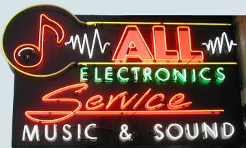 Picture of sign for All Service Musical Electronics Repair
